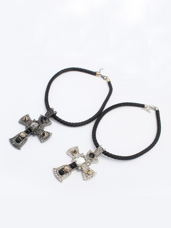 Punk Retro Cross Collane