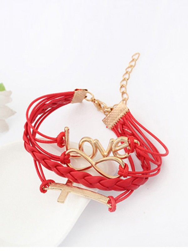 Password love Cross Bracciali